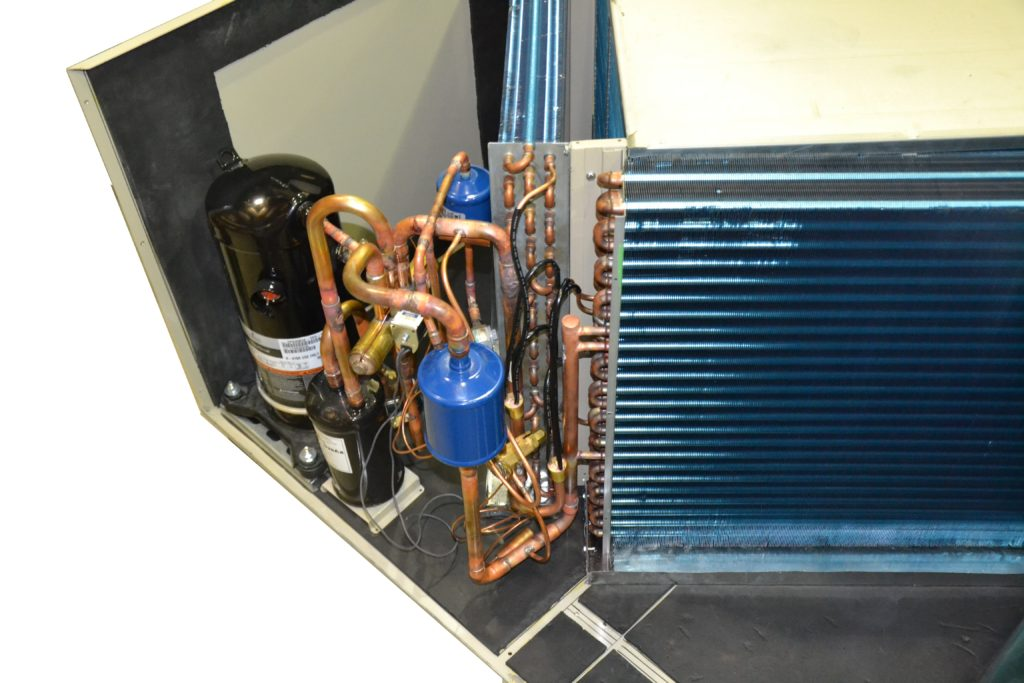 Internal components view of Topaz Makeup Air Unit
